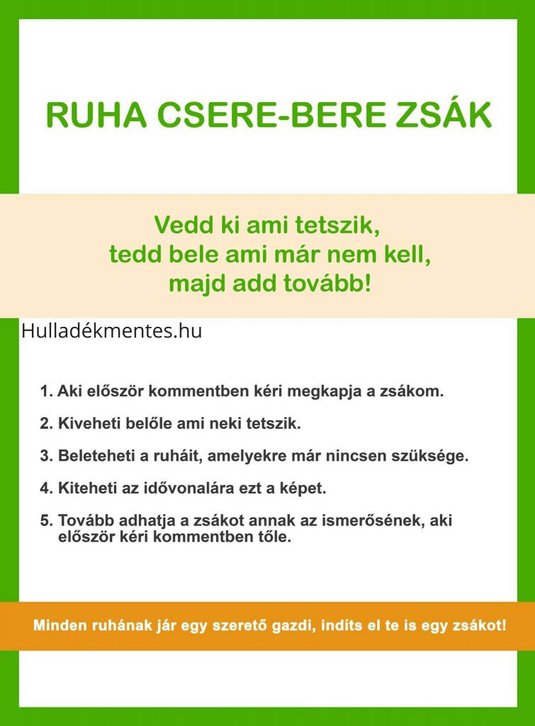 ruha csere-bere zsák Hulladékmentes.hu