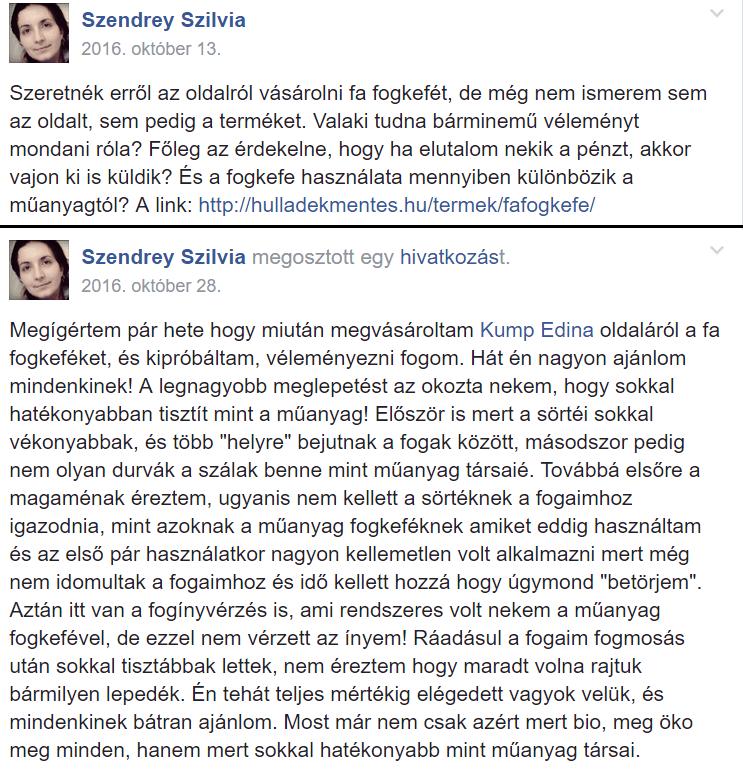 szendrey szilvia vélemény hulladékmentes.hu