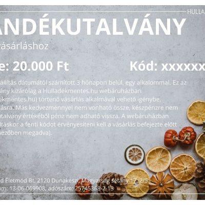 ajándékutalvány 20000 ft hulladékmentes.hu