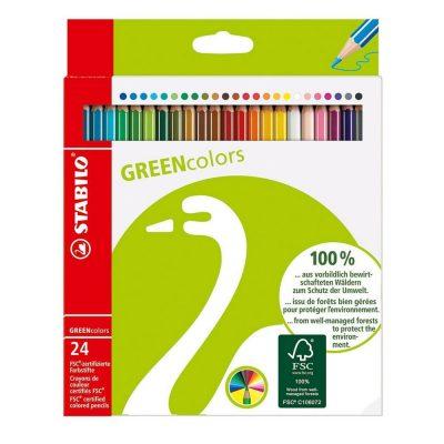 színes ceruza stabilo fsc 24 db hulladékmentes.hu