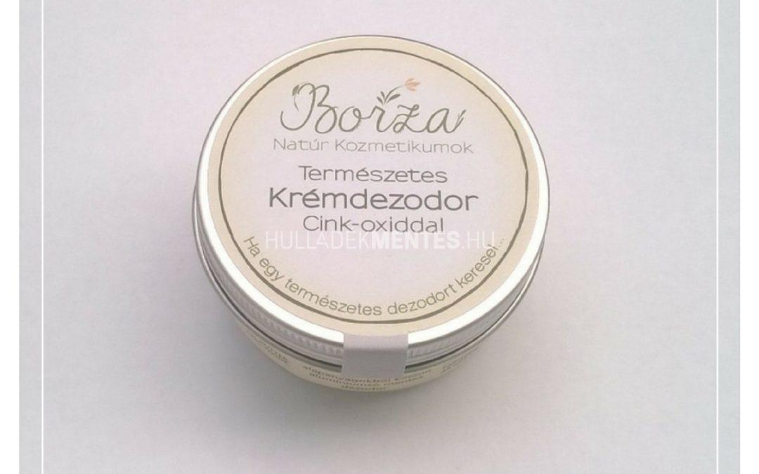 Borza krémdezodor cink-oxiddal – natúr, 45 ml
