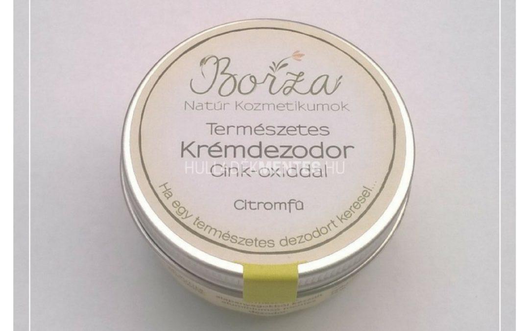 Borza krémdezodor cink-oxiddal – citromfű, 45 ml