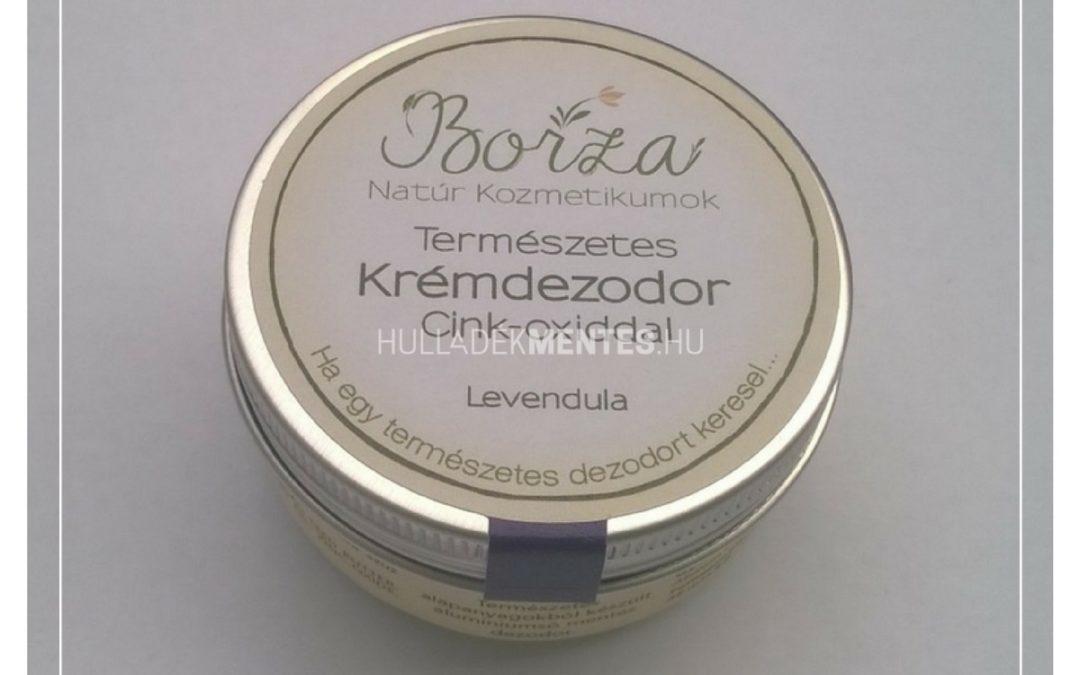 Borza krémdezodor cink-oxiddal – levendulás, 45 ml