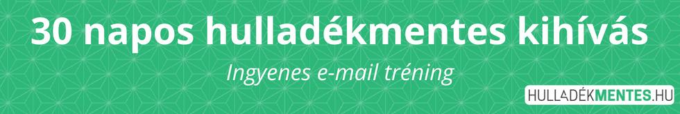 30 napos hulladékmentes kihívás, ingyenes e-mail tréning