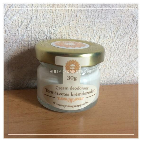 Napvirág krémdezodor szódabikarbónával és cink-oxiddal – frissítő illat, 30 g