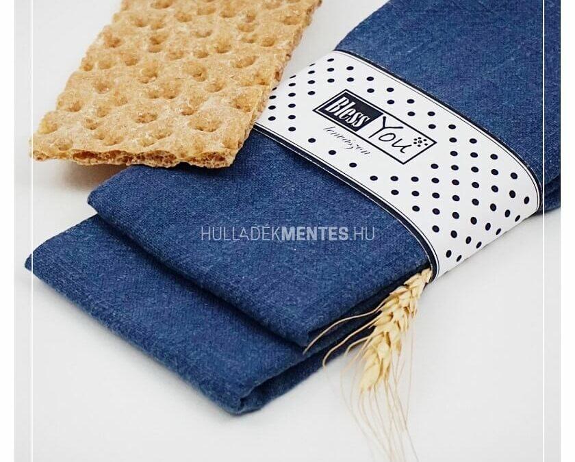 BlessYou kék textilszalvéta szett (lenvászon)