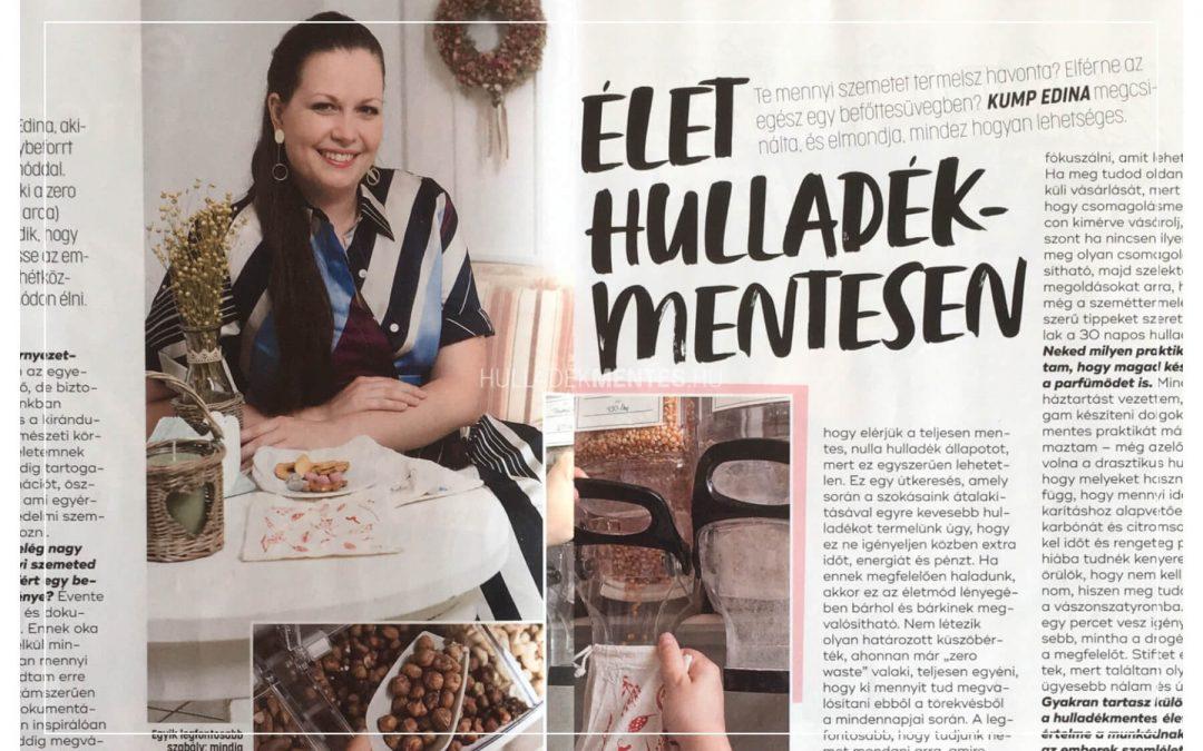 Kump Edina interjú a Joy magazinban: Élet hulladékmentesen