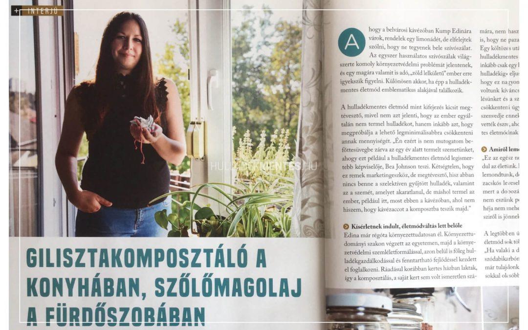 Interjú a Turista magazinban: Gilisztakomposztáló a konyhában, szőlőmagolaj a fürdőszobában